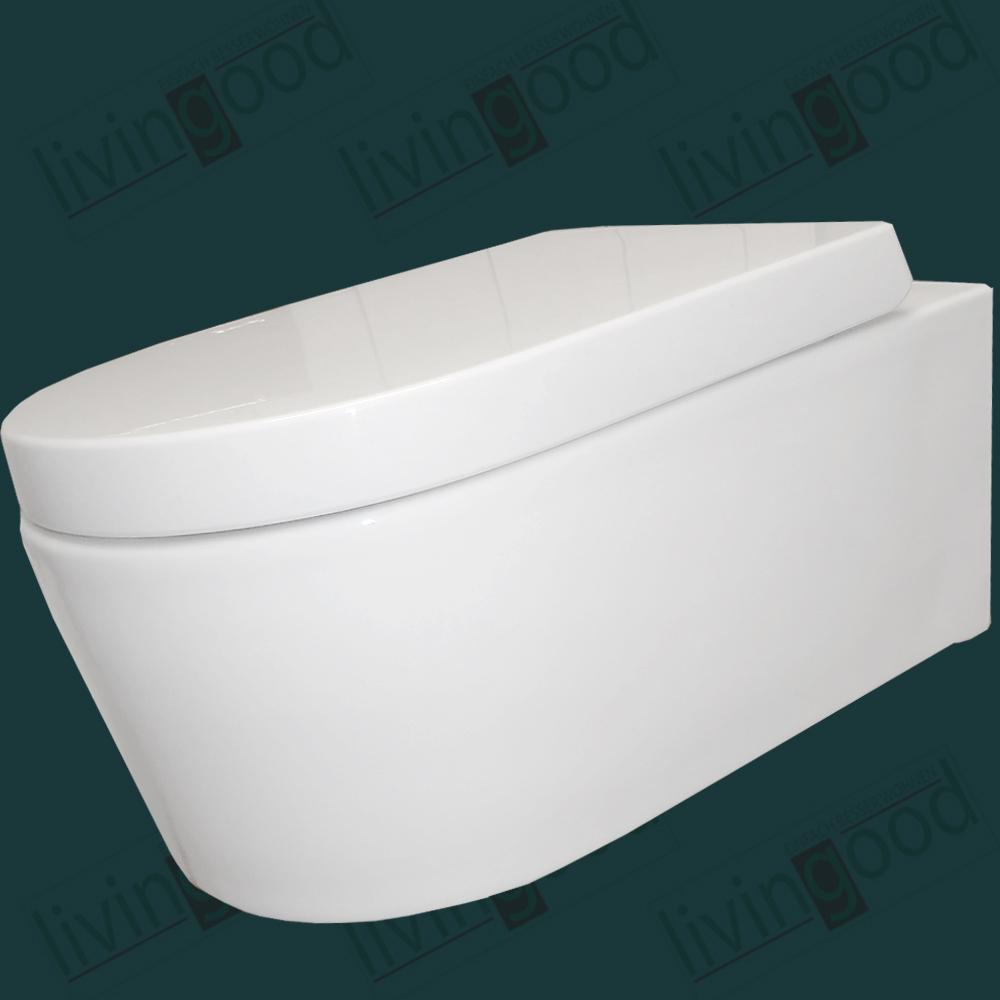 keramik design wand toilette softclose komplett neu wc avenir ebay. Black Bedroom Furniture Sets. Home Design Ideas