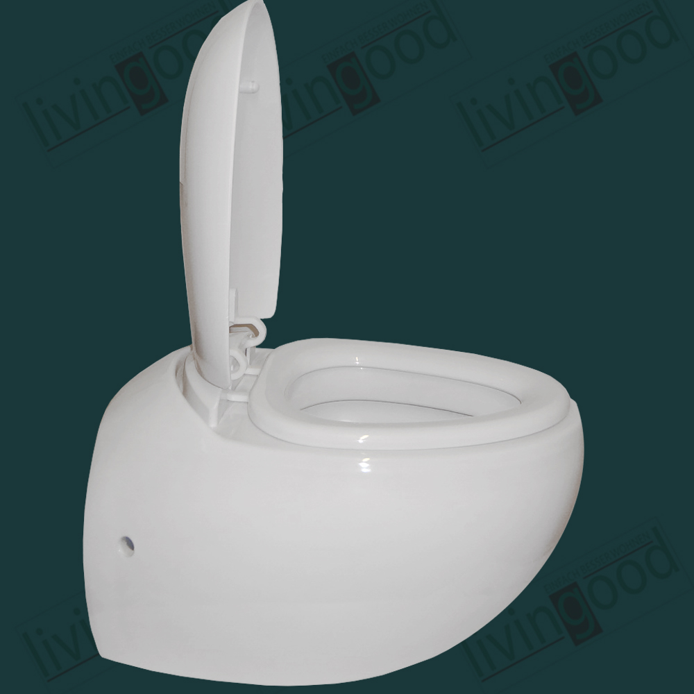 keramik design wand toilette softclose komplett neu wc sphere ebay. Black Bedroom Furniture Sets. Home Design Ideas