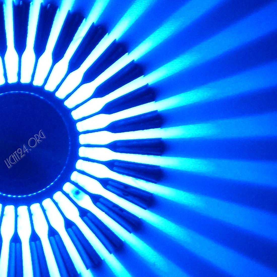 Led wandstrahler stripes verschiedene for Raumgestaltung blau