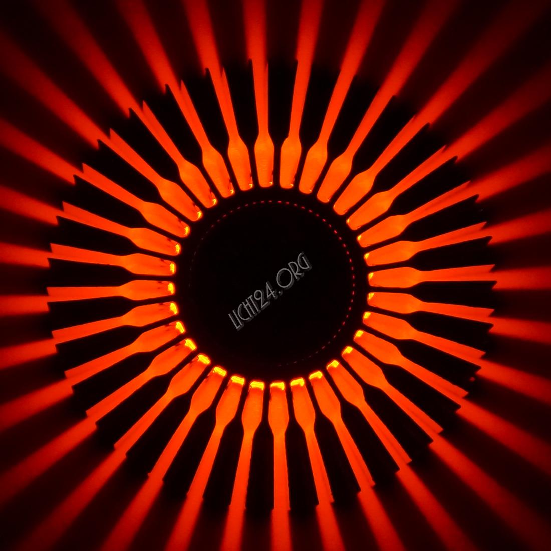 Led Wandstrahler Stripes : Details zu LED Wandstrahler STRIPES rot Wandleuchte DesignStrahle r 5