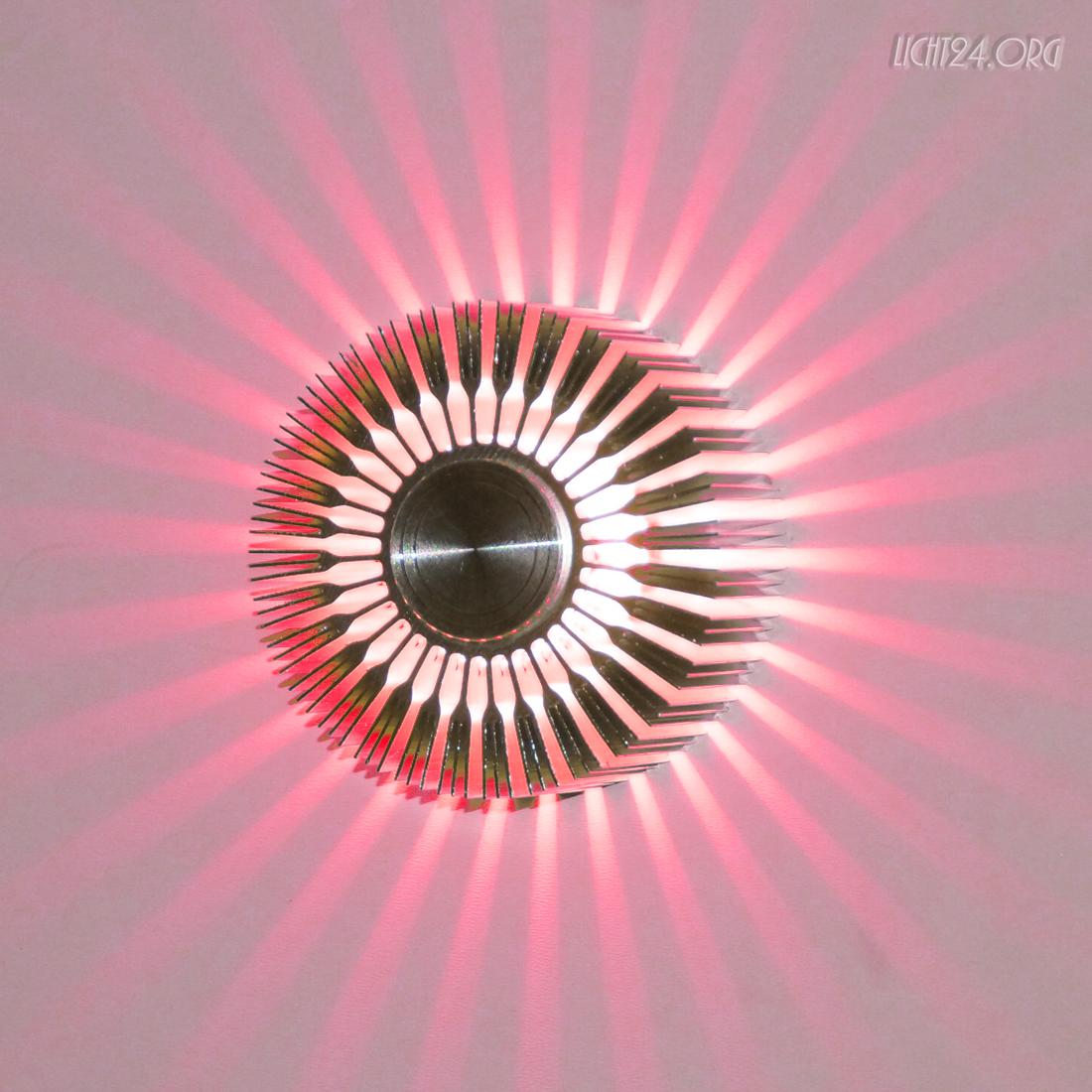 Details zu LED Wandstrahler STRIPES rot Wandleuchte DesignStrahle r 5