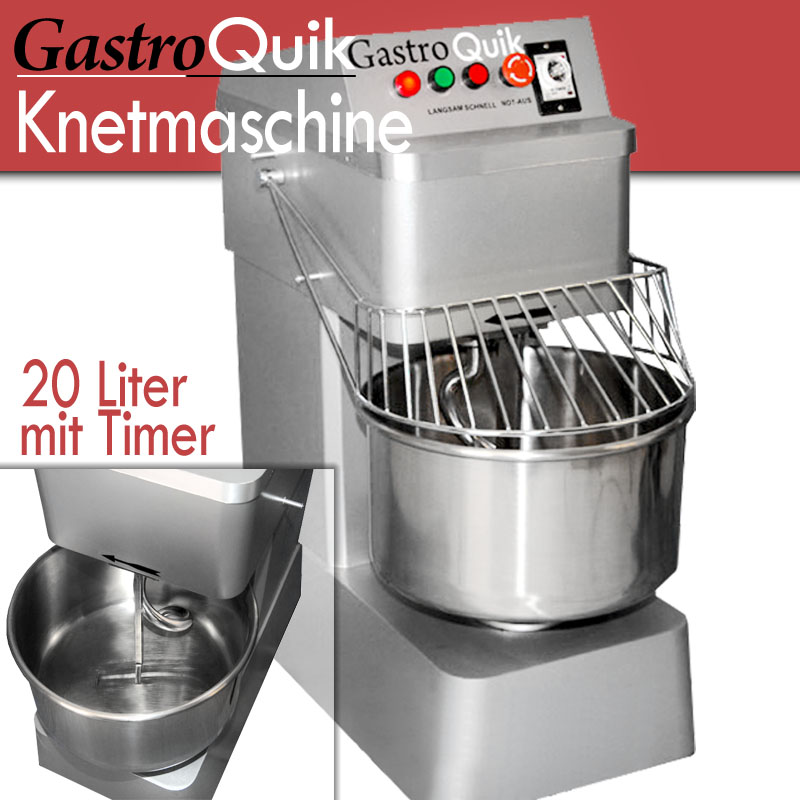 gastroquik teigknetmaschine 20 liter mit timer 2gs ebay. Black Bedroom Furniture Sets. Home Design Ideas