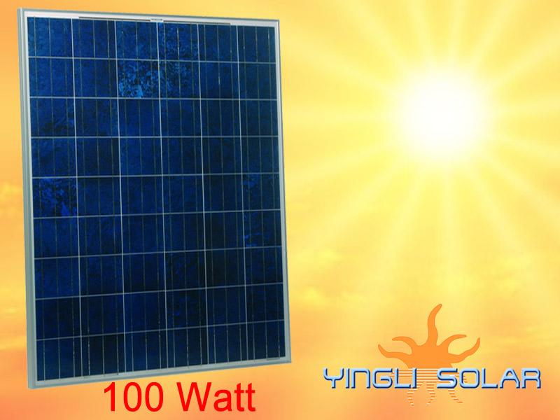 solarzelle 100 watt solarmodul polykristallin t v. Black Bedroom Furniture Sets. Home Design Ideas