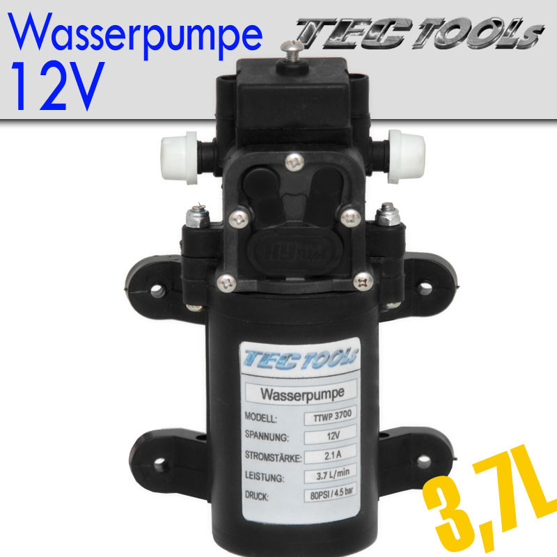 wasserpumpe 12 volt pumpe tectools bootspumpe 3 7l min neu ebay. Black Bedroom Furniture Sets. Home Design Ideas