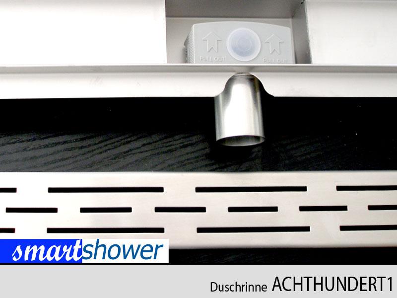bodenablauf duschablauf duschrinne ablaufrinne 80cm edelstahl von smartshower ebay. Black Bedroom Furniture Sets. Home Design Ideas