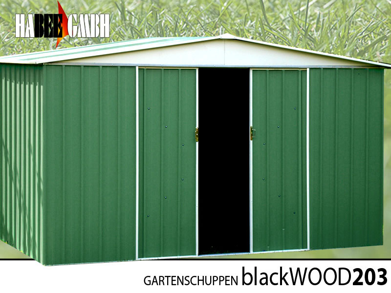 blackwood gartenhaus ger teschuppen metall fahrrad schuppen riesige 6 1 qm ebay. Black Bedroom Furniture Sets. Home Design Ideas